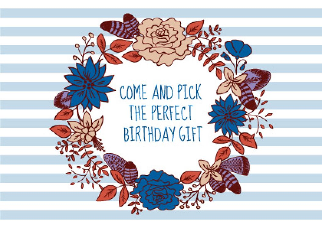 Happy birthday greeting card — Créer un visuel