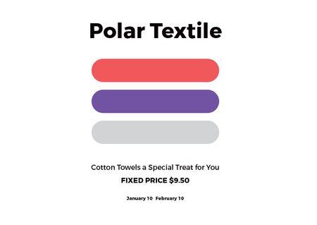 Designvorlage Polar textile shop Offer für Card