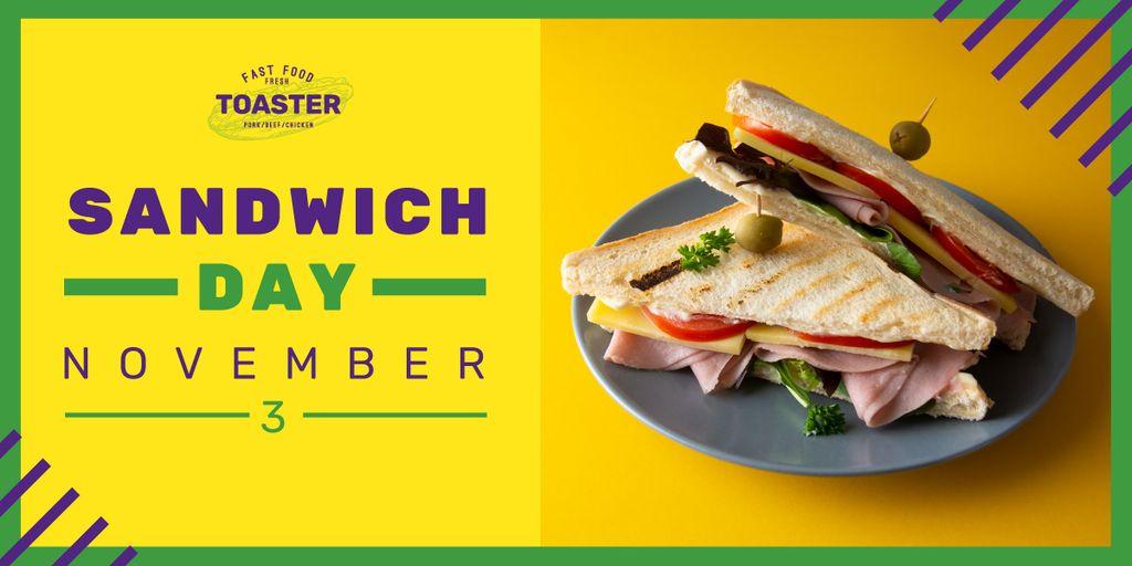 Tempting sandwich on a plate — Créer un visuel