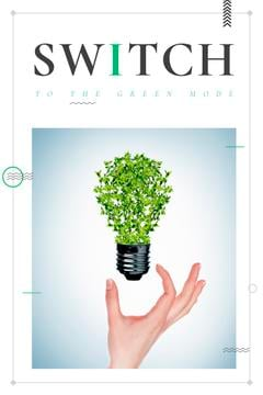 Eco Technologies Concept with Light Bulb with Leaves