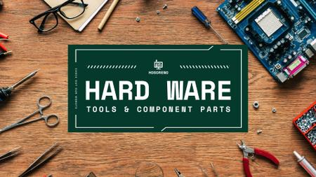 Hardware repair services with Circuit board Full HD video Design Template