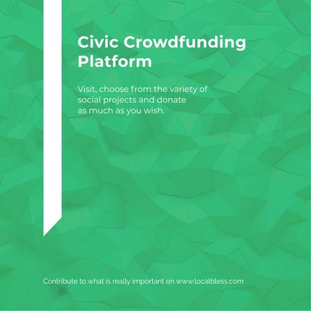 Crowdfunding Platform ad on Stone pattern Instagram AD – шаблон для дизайна