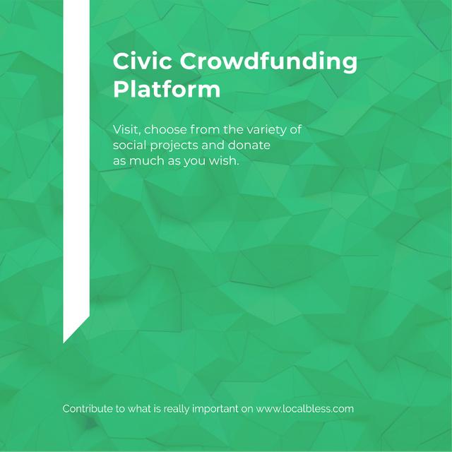 Crowdfunding Platform ad on Stone pattern Instagram AD Modelo de Design