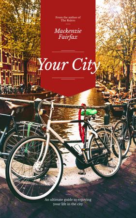 Ontwerpsjabloon van Book Cover van City Guide Bikes in Row on Street