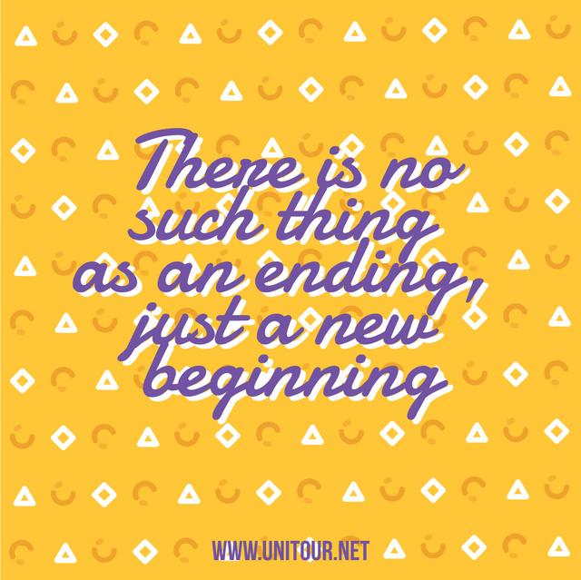 Szablon projektu Inspirational Quote on Flashing Icons in Yellow Animated Post