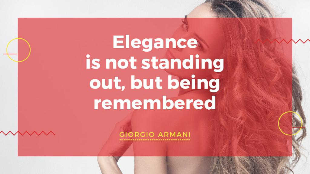 Citation about Elegance being remembered — Create a Design