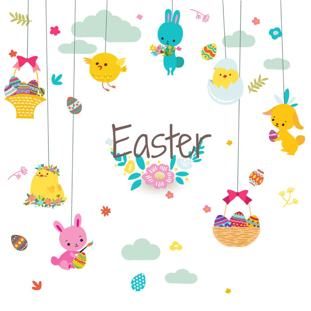 Cute animals as Easter decorations — Create a Design