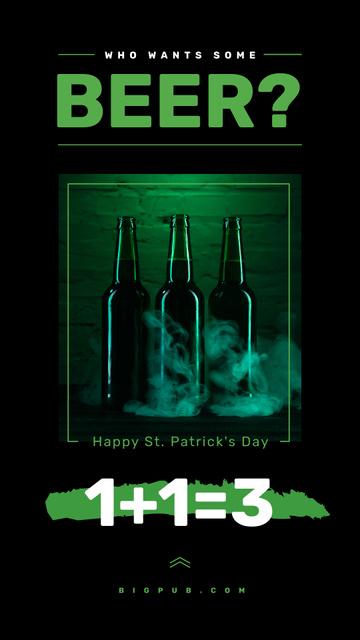 Saint Patrick's Day beer bottles Instagram Story – шаблон для дизайну
