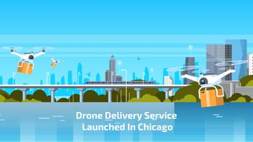 Drone Delivery Service in City | Full Hd Video Template