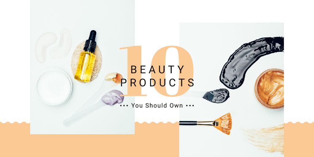 Makeup cosmetics set Image Design Template