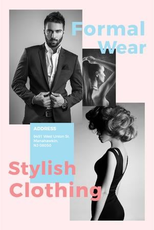 Plantilla de diseño de Formal wear store with Stylish People Pinterest
