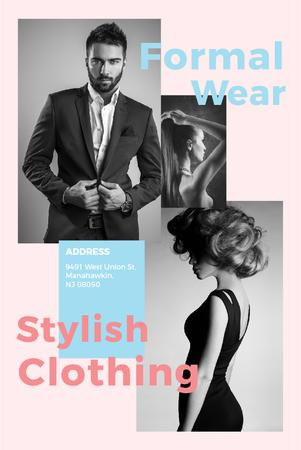 Template di design Formal wear store with Stylish People Pinterest