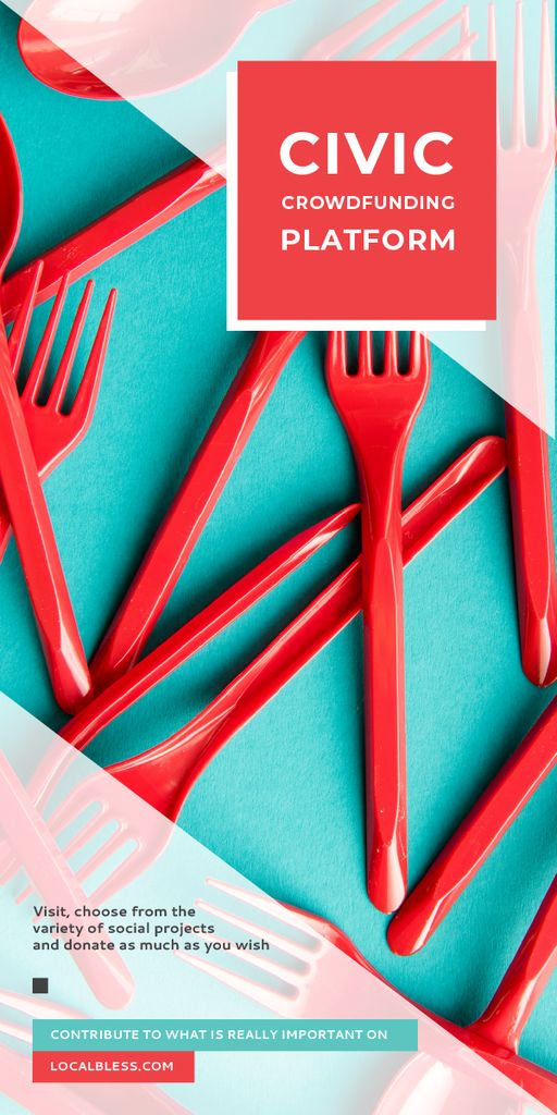 Crowdfunding Platform Red Plastic Tableware — Create a Design