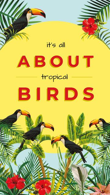 Template di design Toucans in tropical forest Instagram Story