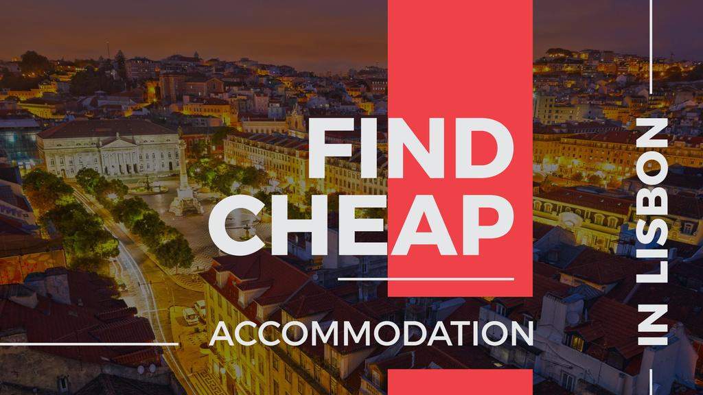 cheap accommodation in Lisbon banner — Создать дизайн