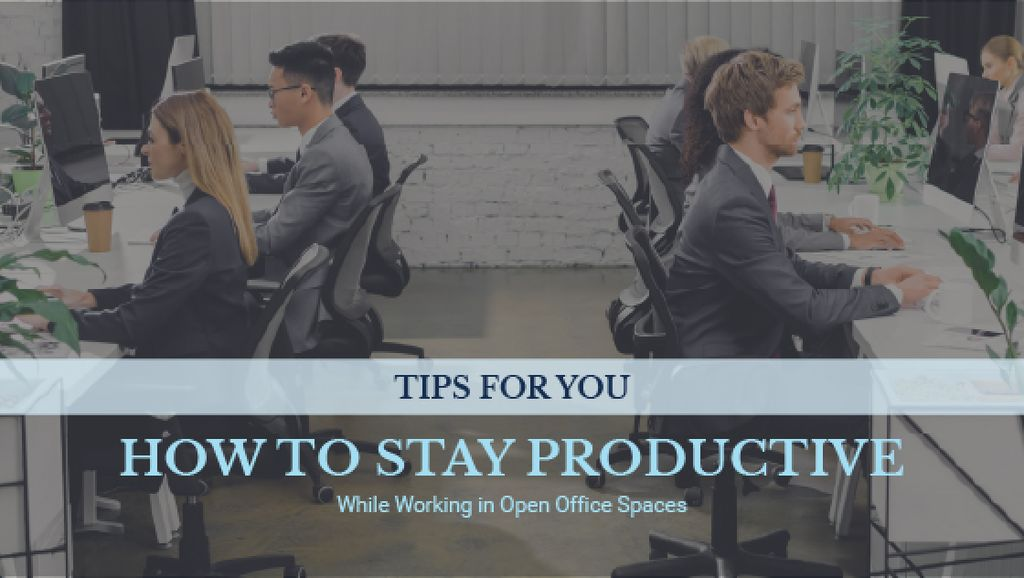 Productivity Tips Colleagues Working in Office — Создать дизайн