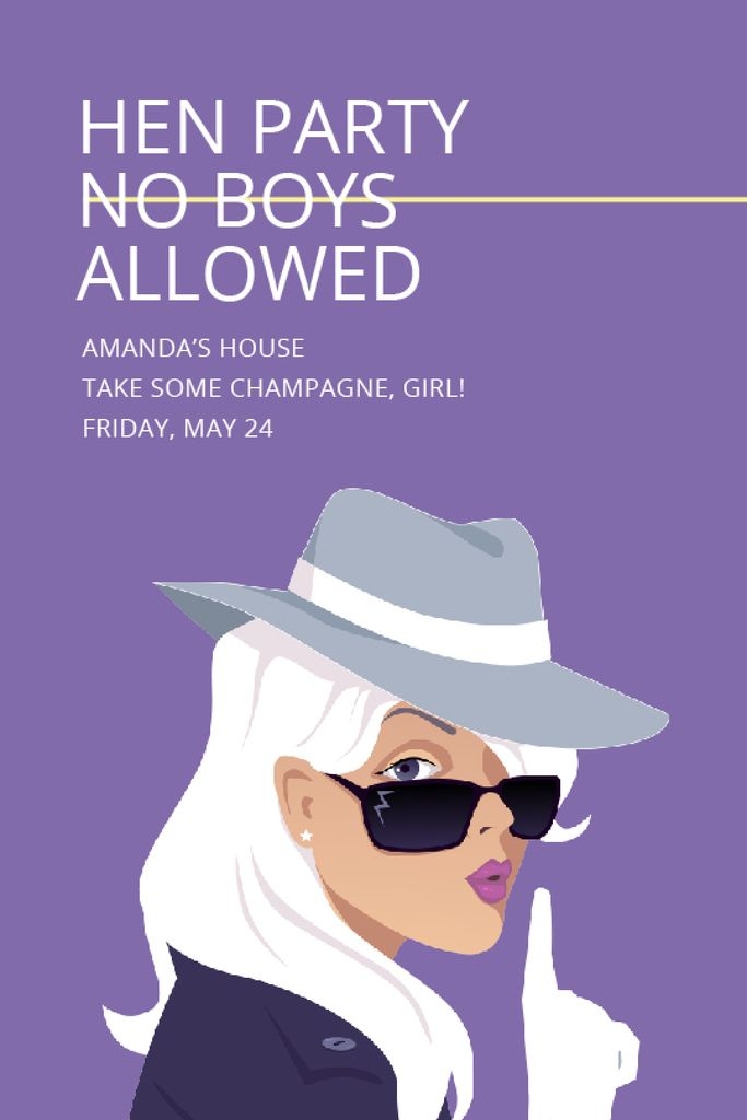 Hen party for girls in Amanda's House — Maak een ontwerp