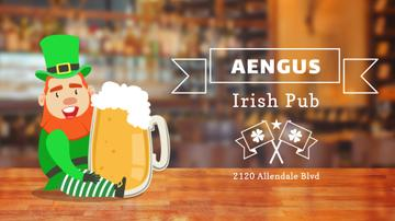 Saint Patrick's Leprechaun in Pub | Full Hd Video Template
