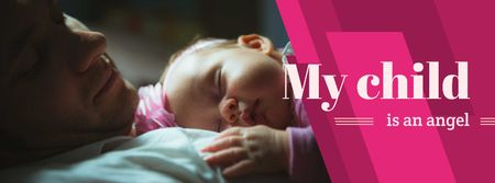 Ontwerpsjabloon van Facebook cover van Father embracing baby