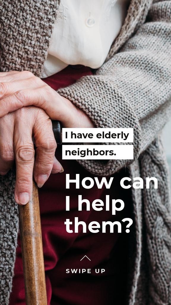 #ViralKindness awareness with care for Elder people Instagram Story – шаблон для дизайну