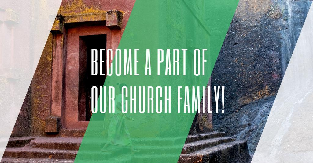 Become a part of our church family — Crea un design