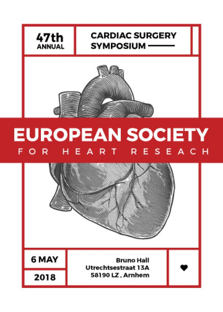 annual cardiac surgery symposium poster — Créer un visuel