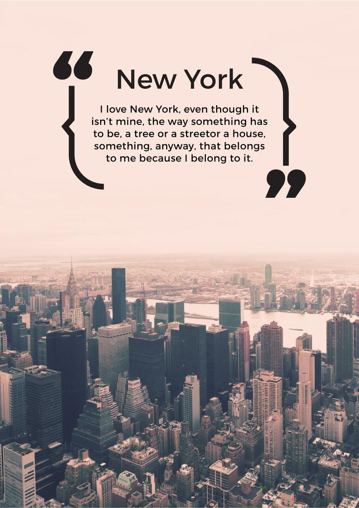 new york inspirational quote poster 42x59 4 u0441m template
