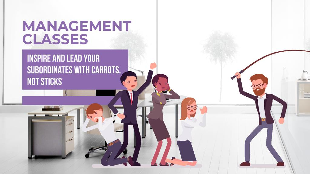 Management Classes Ad Boss Whipping His Subordinates | Full Hd Video Template — Maak een ontwerp