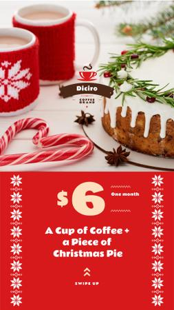 Template di design Christmas Festive Cake and Coffee Offer Instagram Story