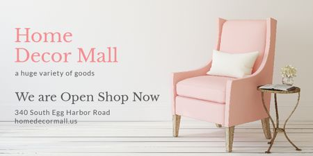 Plantilla de diseño de Furniture Store ad with Armchair in pink Image