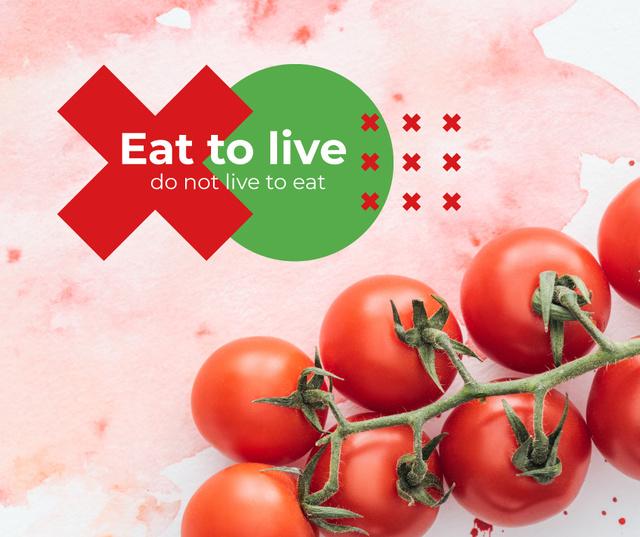 Ripe cherry tomatoes Facebook Tasarım Şablonu
