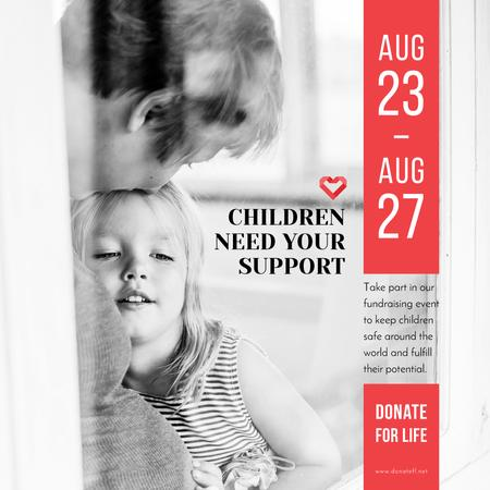 Template di design Charity Event with Child hugging mother Instagram AD