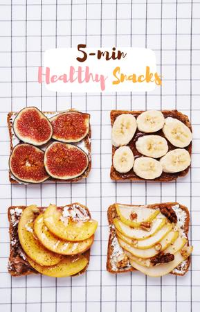 Template di design Delicious Toasts with fruits IGTV Cover