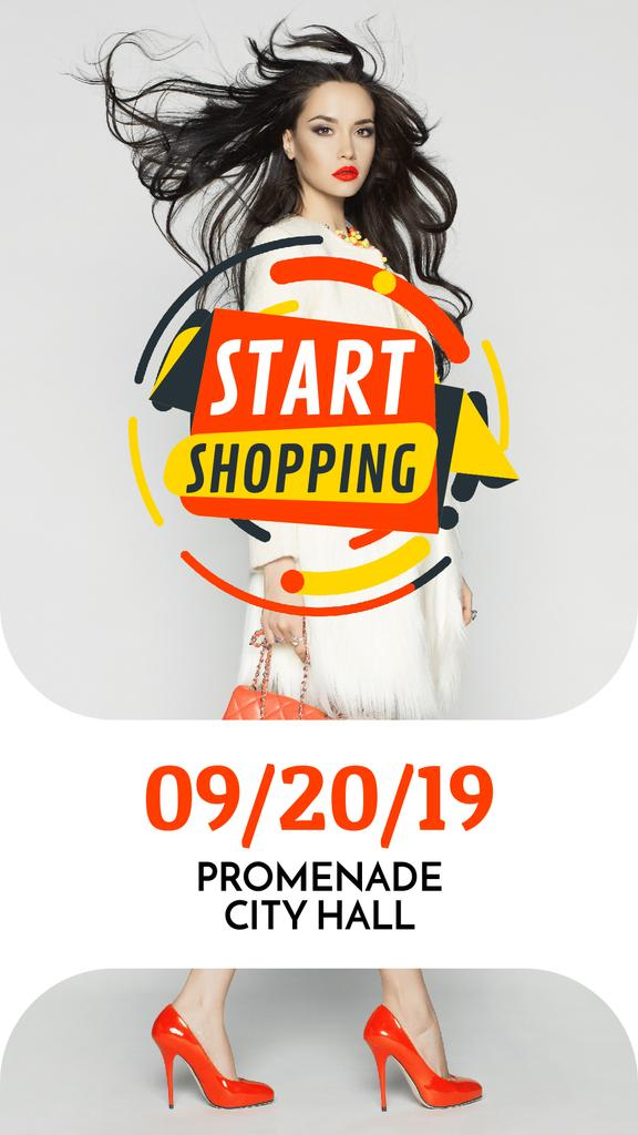 Fashion Sale with Woman in White Clothes | Vertical Video Template — Modelo de projeto