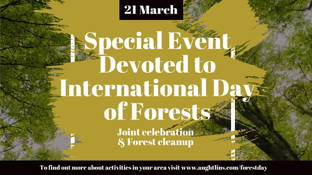 International Day of Forests Event Tall Trees   Youtube Channel Art — Create a Design