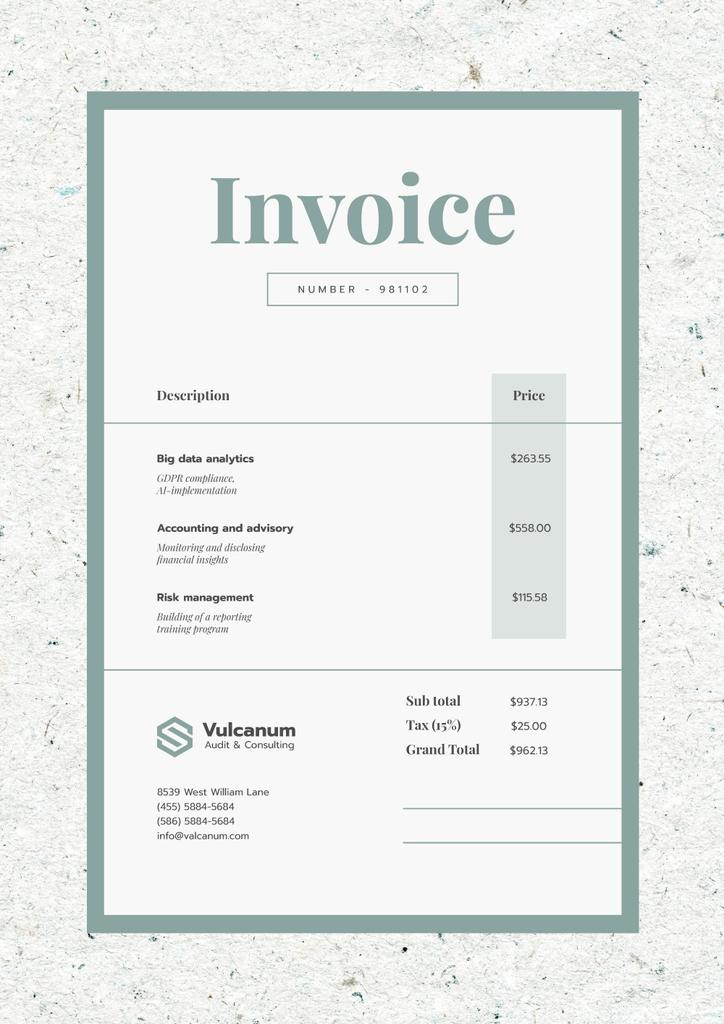 Audit Company Services in Texture Frame — Создать дизайн