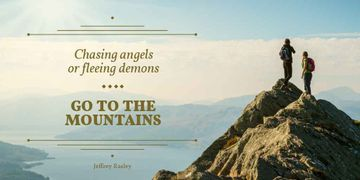 Mountains Hiking Tour Offer with Travellers Enjoying View