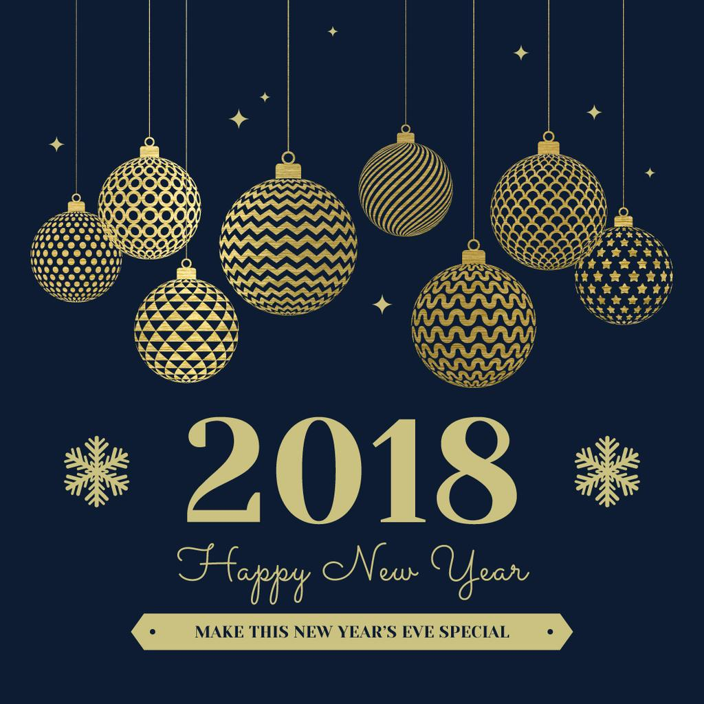 Shiny baubles for New Year Party — ein Design erstellen