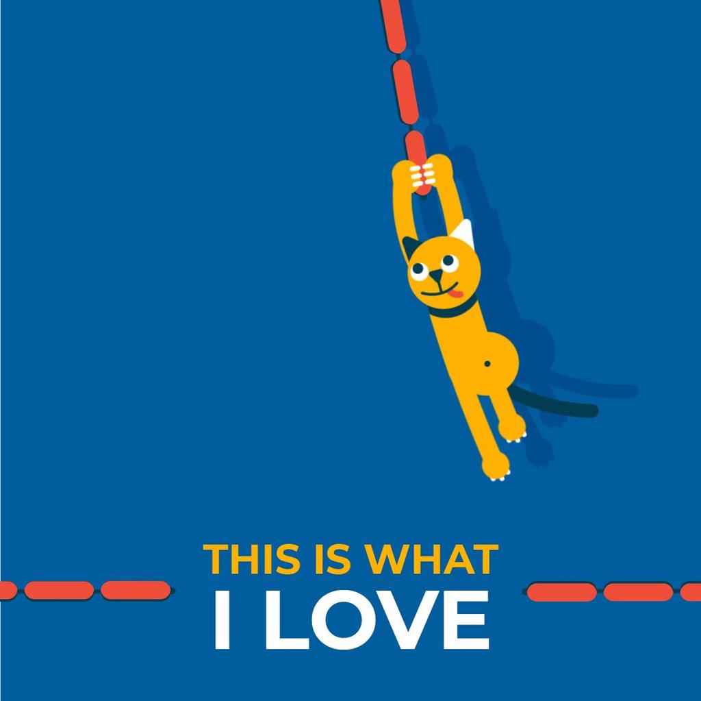 Cat Swinging on Sausages — Crea un design