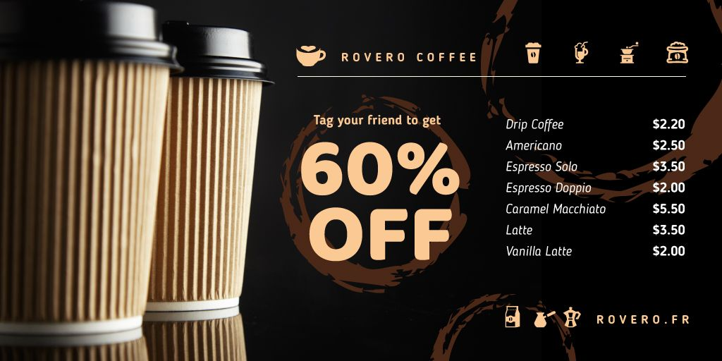 Coffee Shop Promotion Cups Coffee To-go — Create a Design