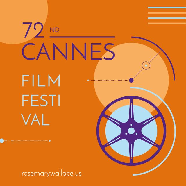 Cannes Film Festival Instagram – шаблон для дизайну