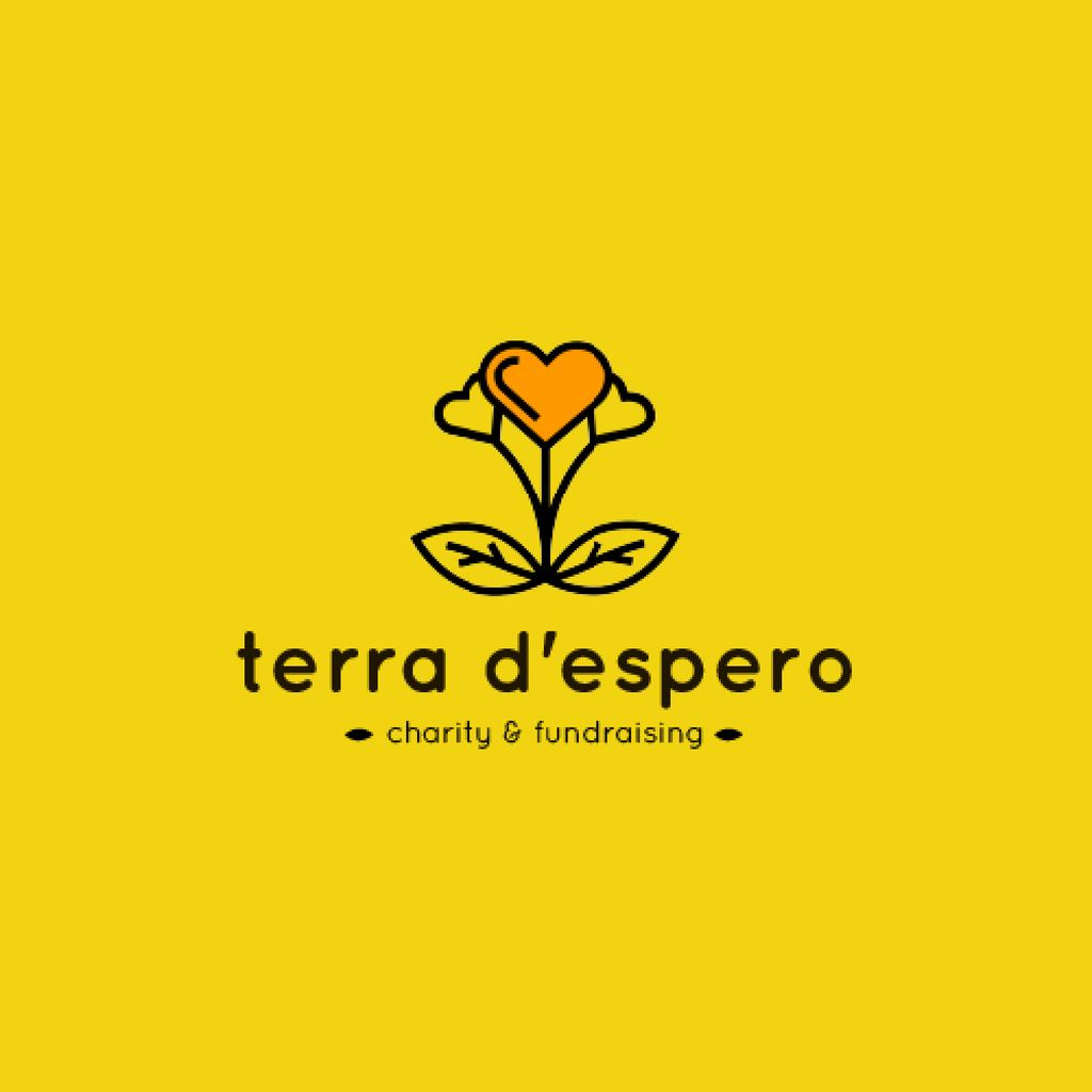 Charity Fund with Heart in Flower — Crear un diseño