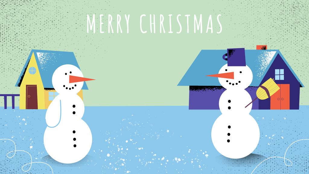 Two funny snowmen — Modelo de projeto