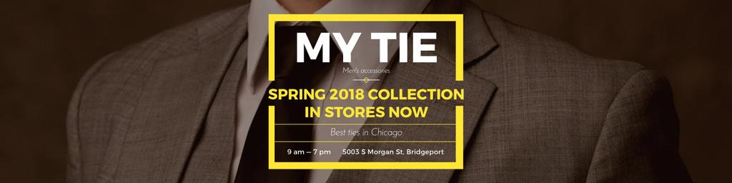 Tie store Ad with Man in Suit — Crear un diseño