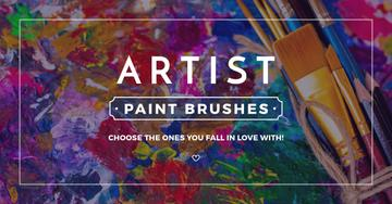 Artist paint brushes store