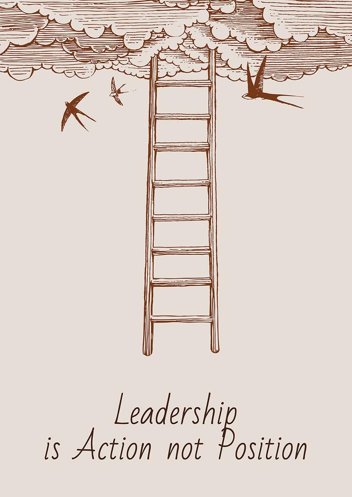 Leadership is action not position citation — Crear un diseño
