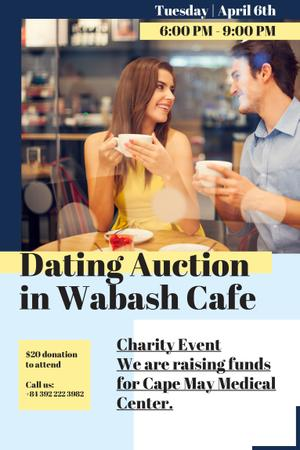 Modèle de visuel Dating Auction in Cafe - Pinterest