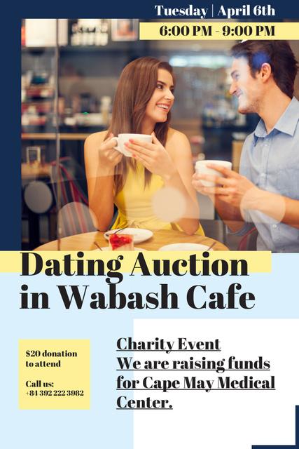 Plantilla de diseño de Dating Auction in Cafe Pinterest