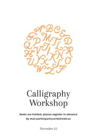Ontwerpsjabloon van Poster van Calligraphy workshop Ad