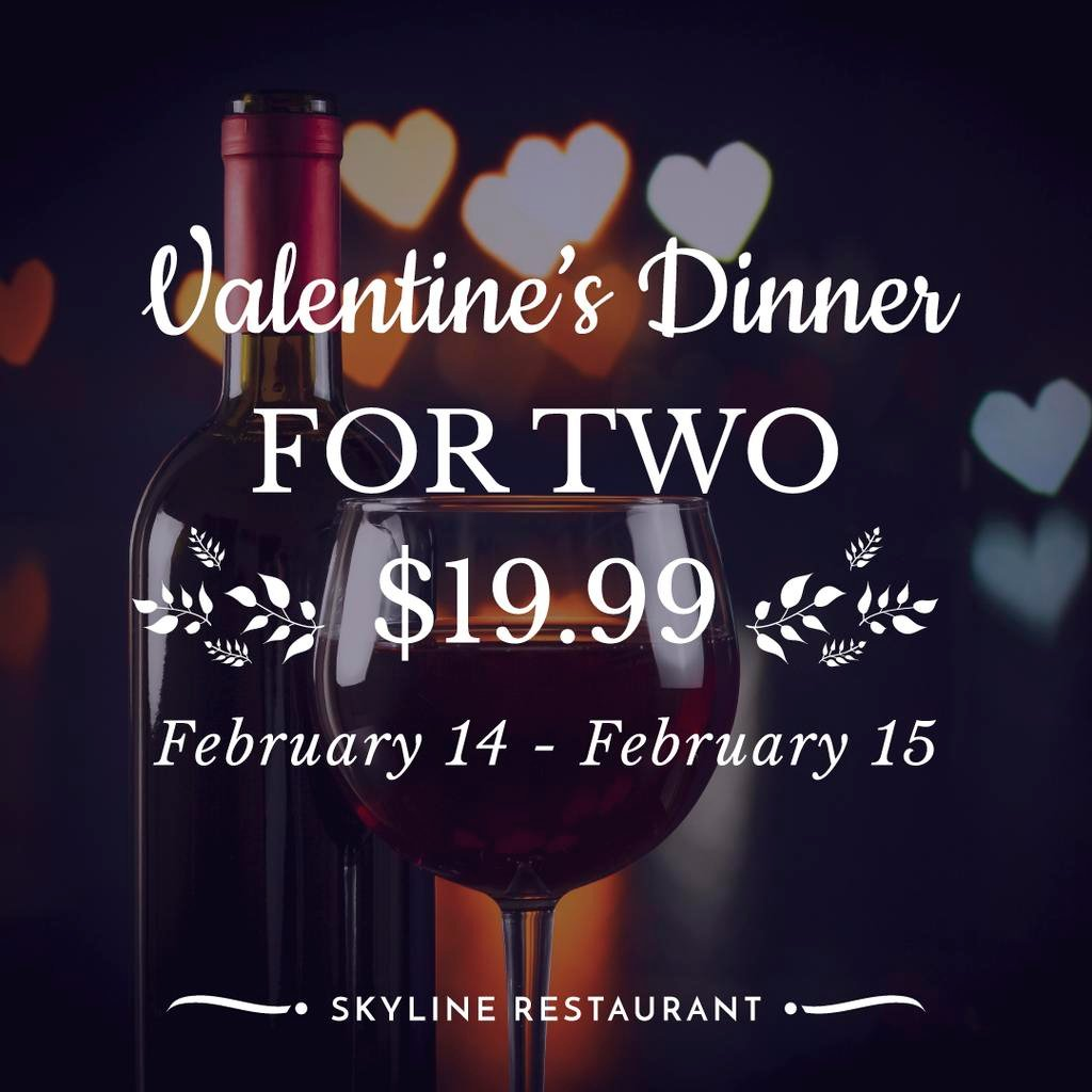 Valentine's Day Dinner with Red Wine — Створити дизайн